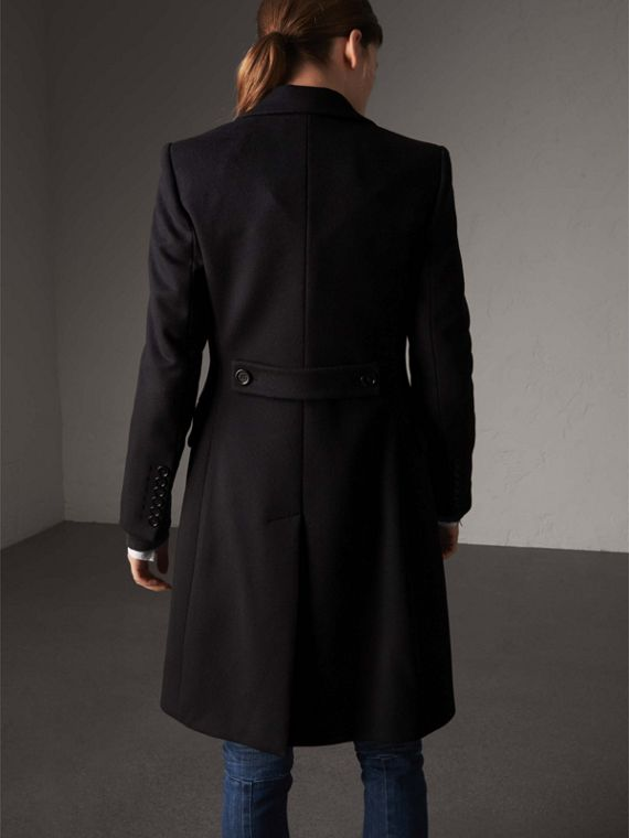 Wool Cashmere Tailored Coat in Black - Women | Burberry Australia - cell image 2