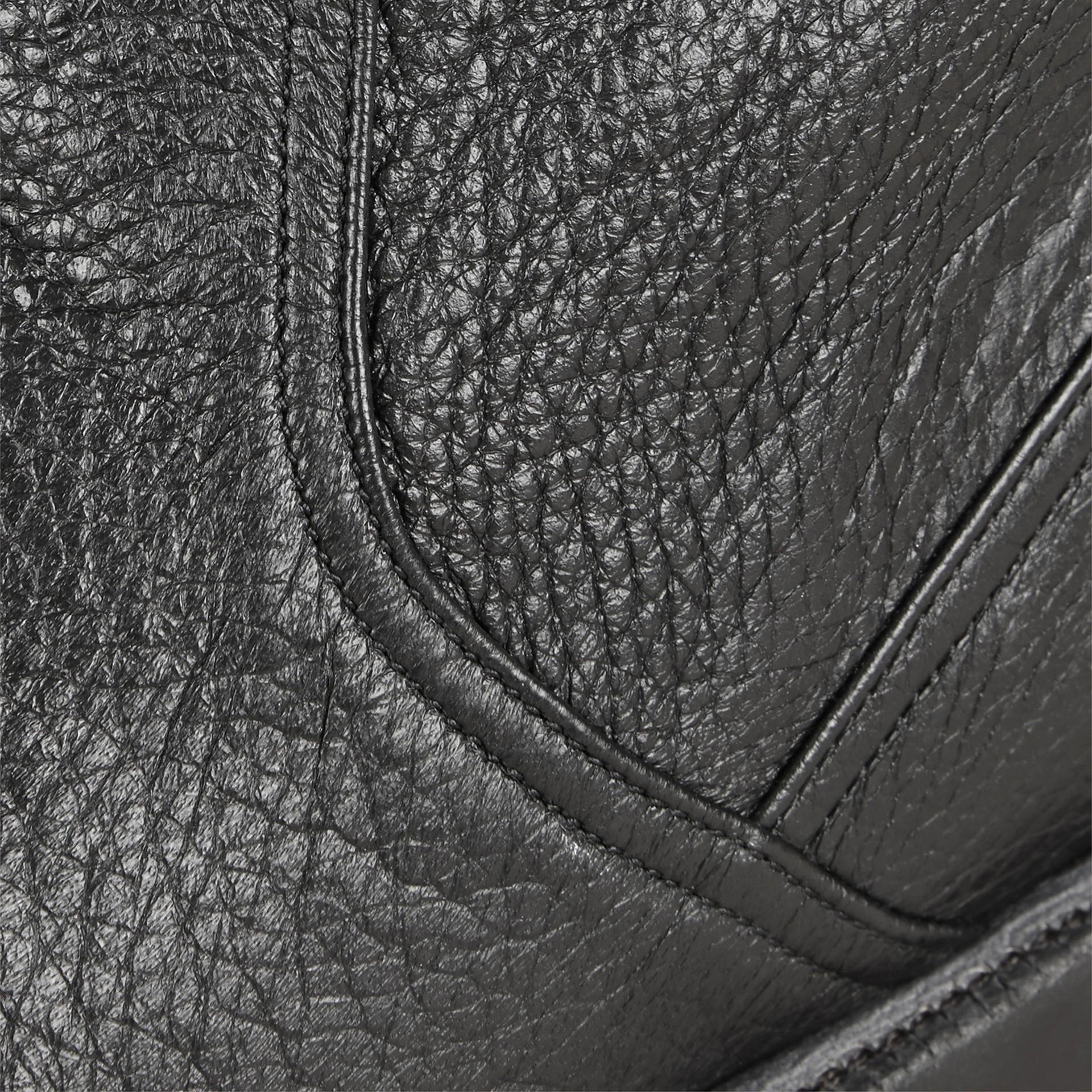 Black Deerskin Ankle Boots - gallery image 2