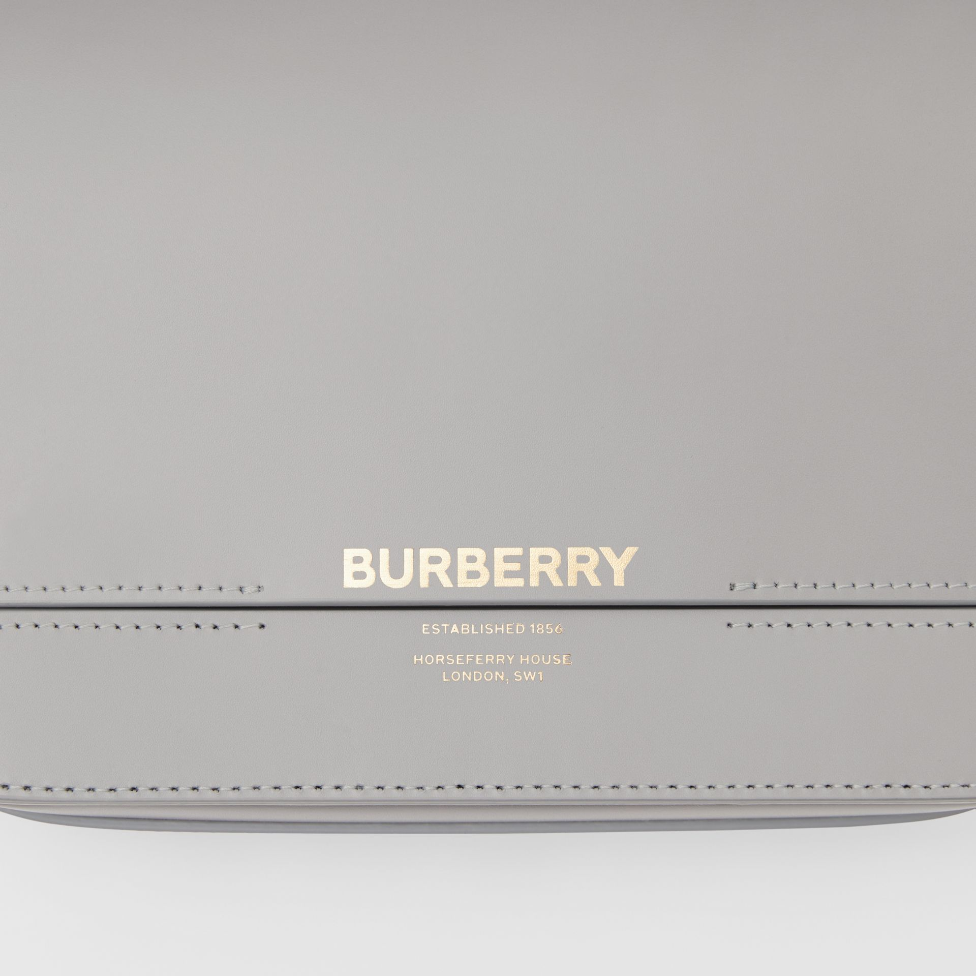 Small Two-tone Leather Grace Bag in Heather Grey/cloud Grey - Women | Burberry United Kingdom - gallery image 1