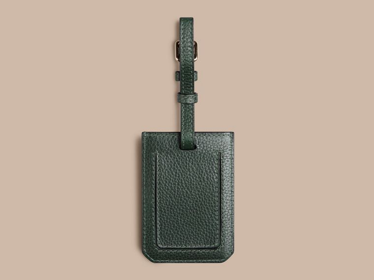 Dark forest green Grainy Leather Luggage Tag Dark Forest Green - cell image 1