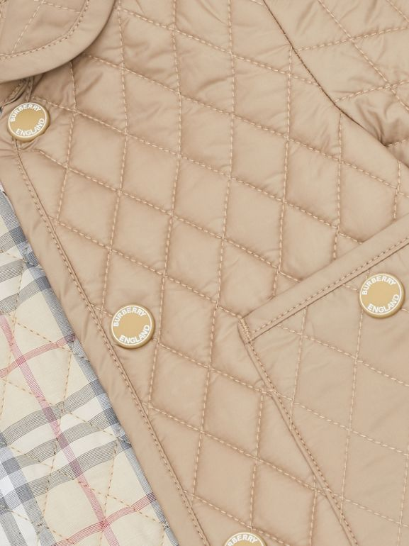 Showerproof Diamond Quilted Jacket in Walnut - Children | Burberry Hong Kong S.A.R - cell image 1