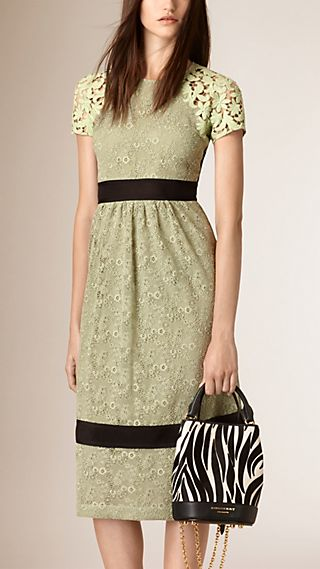 Macramé Lace Panel Dress