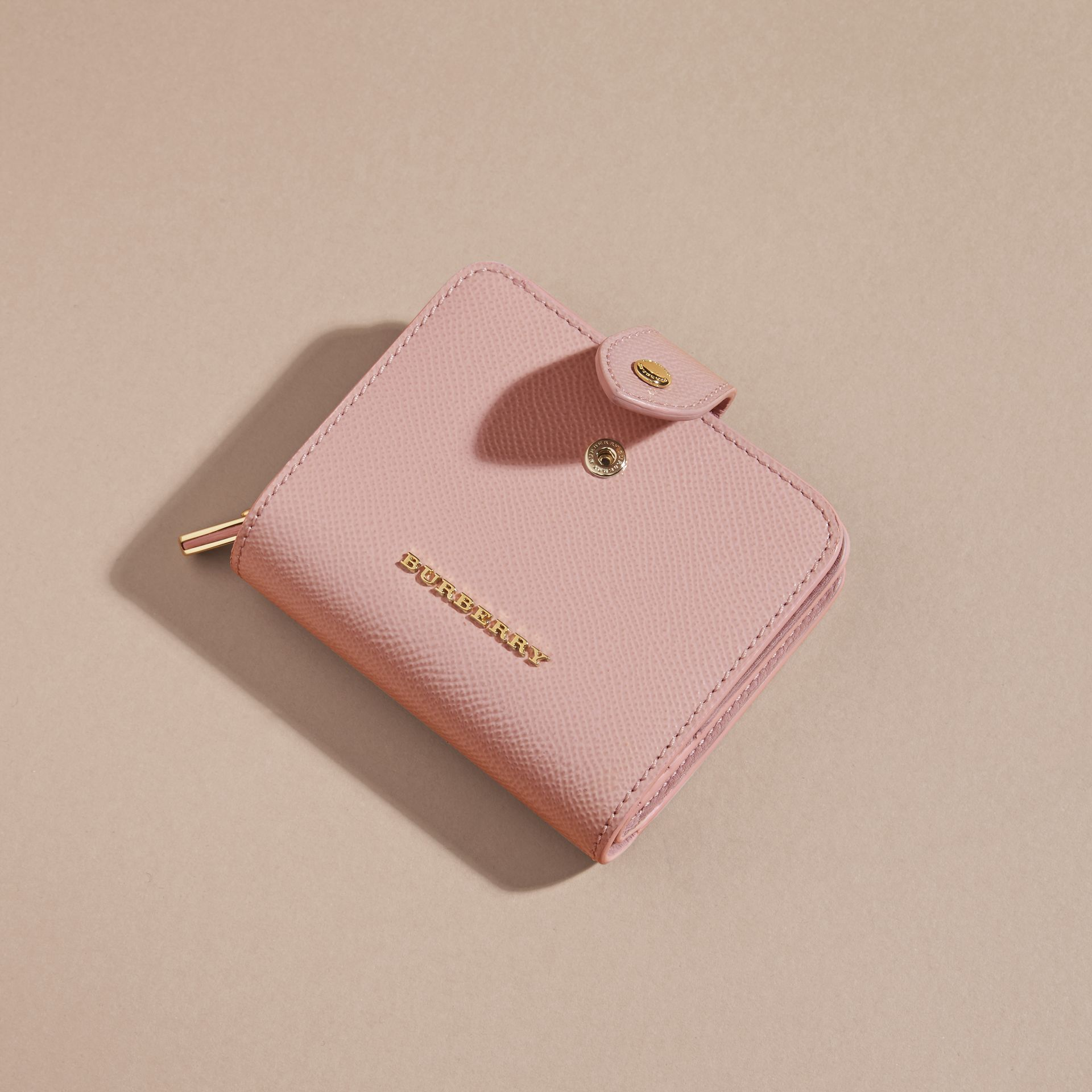 Patent London Leather Wallet in Ash Rose - gallery image 3