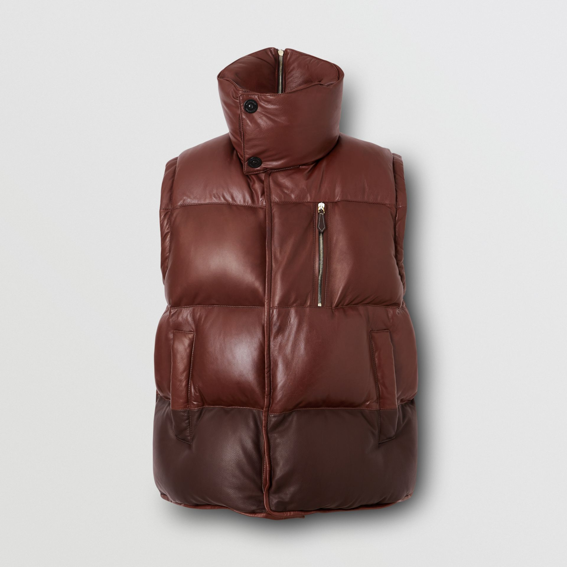 Down-filled Lambskin Puffer Gilet in Dark Mocha - Men | Burberry - gallery image 3
