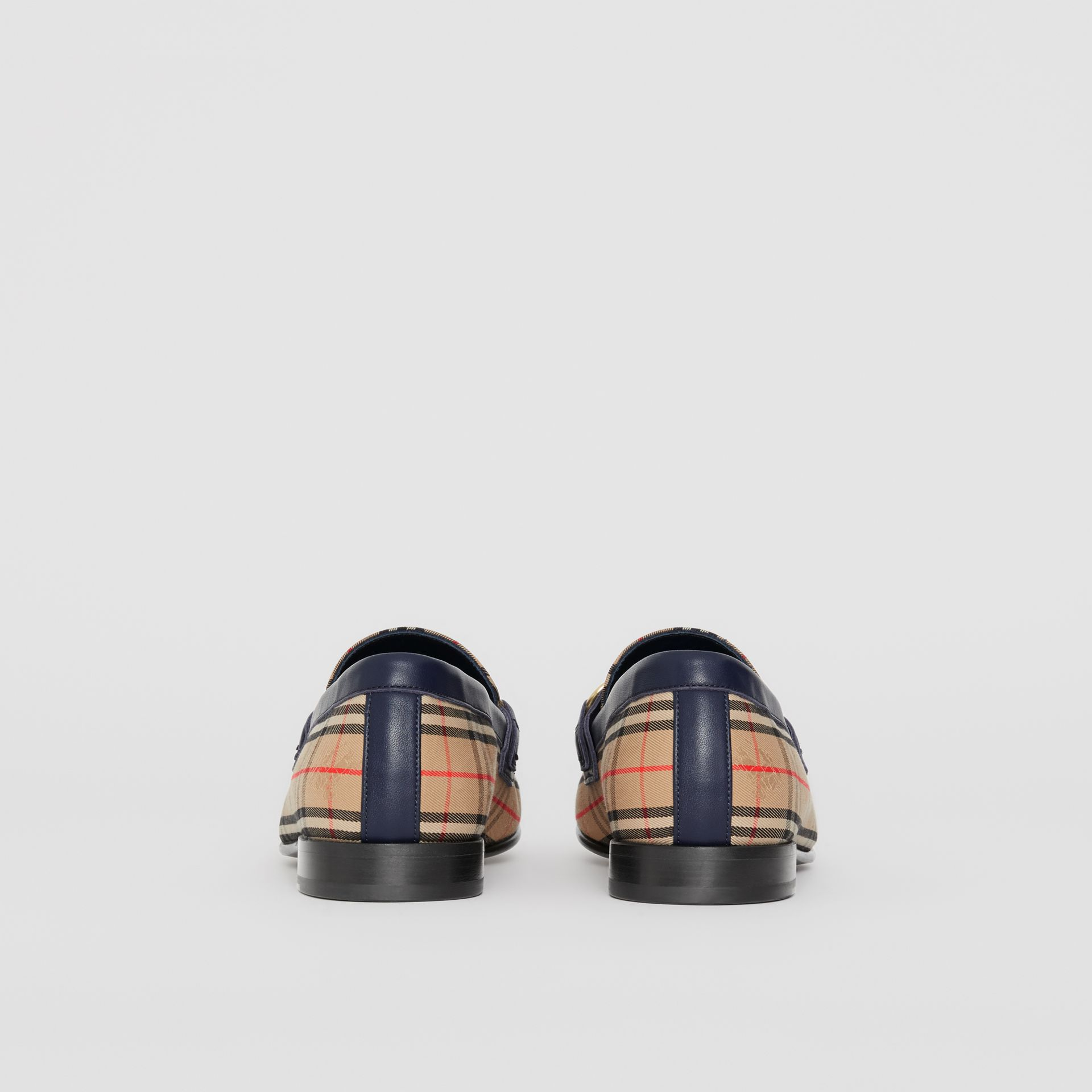 The 1983 Check Link Loafer in Ink Blue - Men | Burberry United Kingdom - gallery image 5