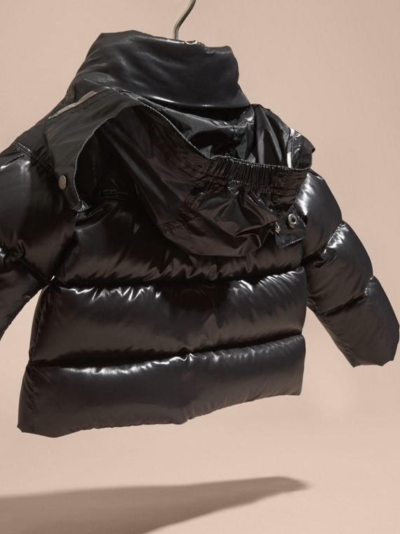 Black Glossy Down-filled Jacket - cell image 3
