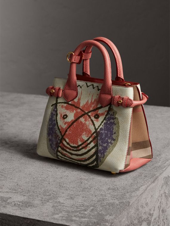 The Baby Banner in Leather with Pallas Heads Print in Cinnamon Red - Women | Burberry - cell image 3