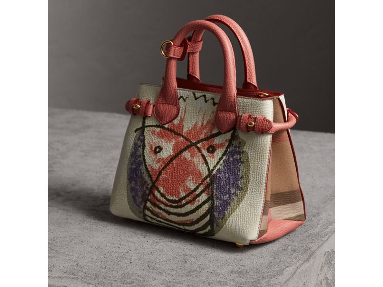 The Baby Banner in Leather with Pallas Heads Print in Cinnamon Red - Women | Burberry - cell image 4