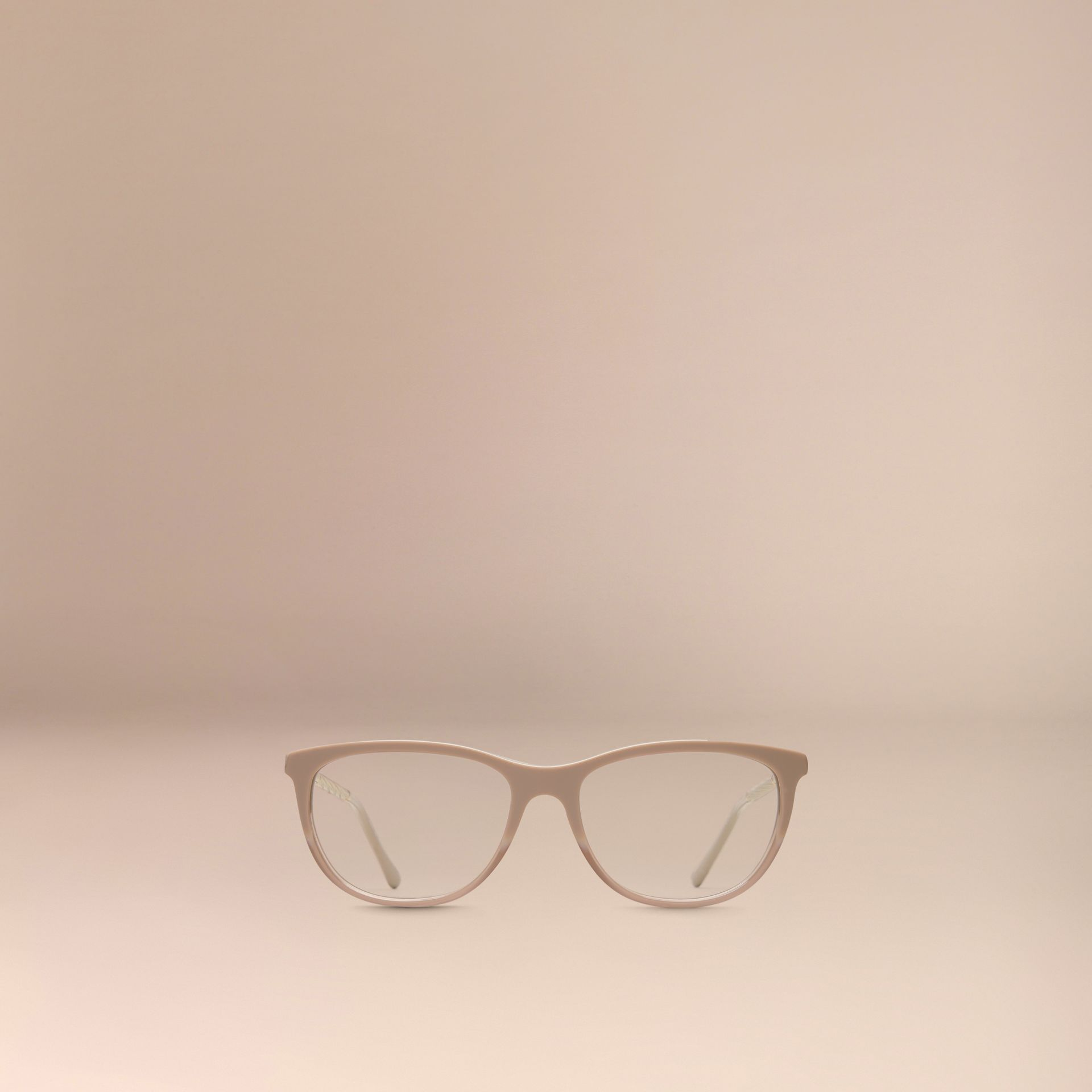 Gabardine Collection Cat-Eye Optical Frames in Honey - gallery image 3