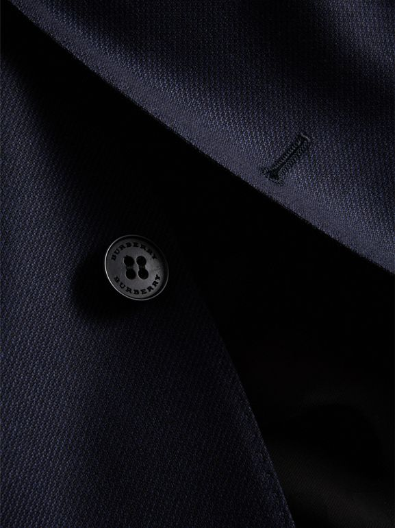 Slim Fit Travel Tailoring Wool Three-piece Suit in Navy - Men | Burberry - cell image 1