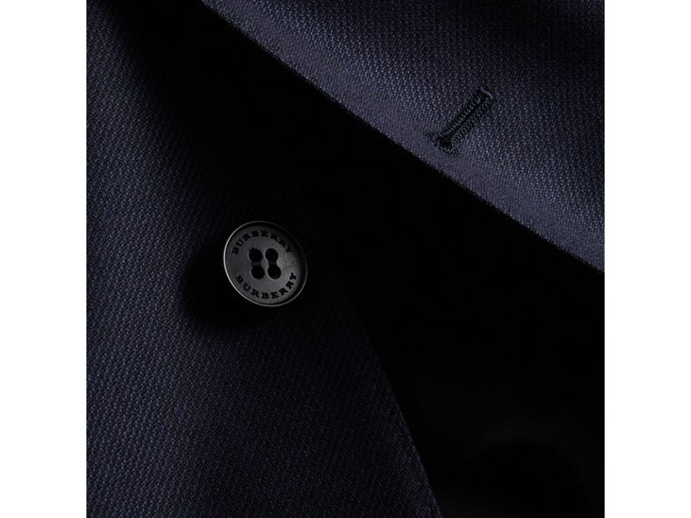 Slim Fit Travel Tailoring Three-piece Wool Suit in Navy - Men | Burberry - cell image 1