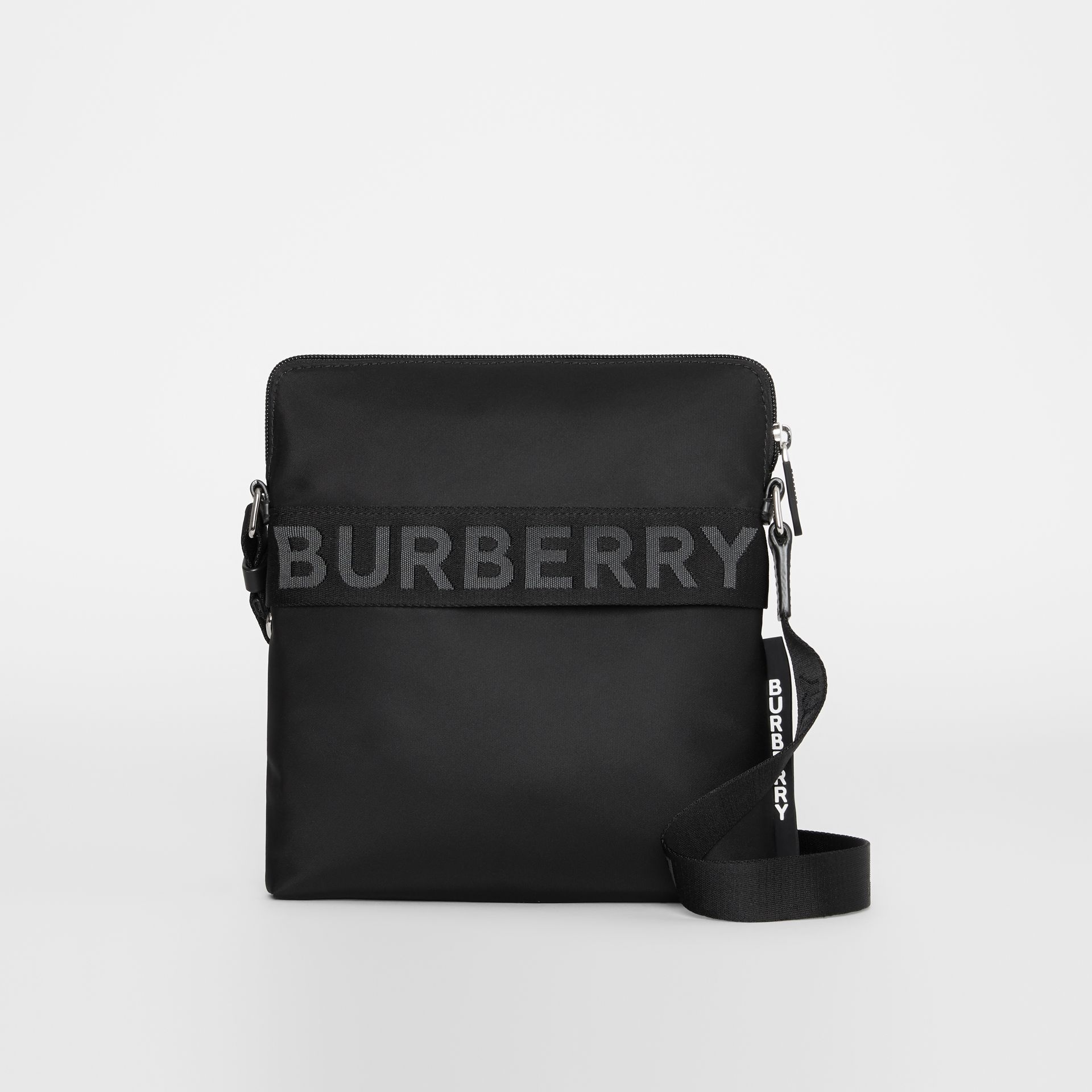 Logo Detail Crossbody Bag in Black - Men | Burberry - gallery image 0