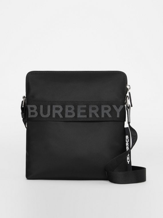 Logo Detail Crossbody Bag in Black