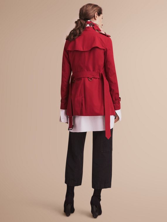 Trench coat Kensington - Trench coat Heritage corto Rojo Desfile - cell image 2