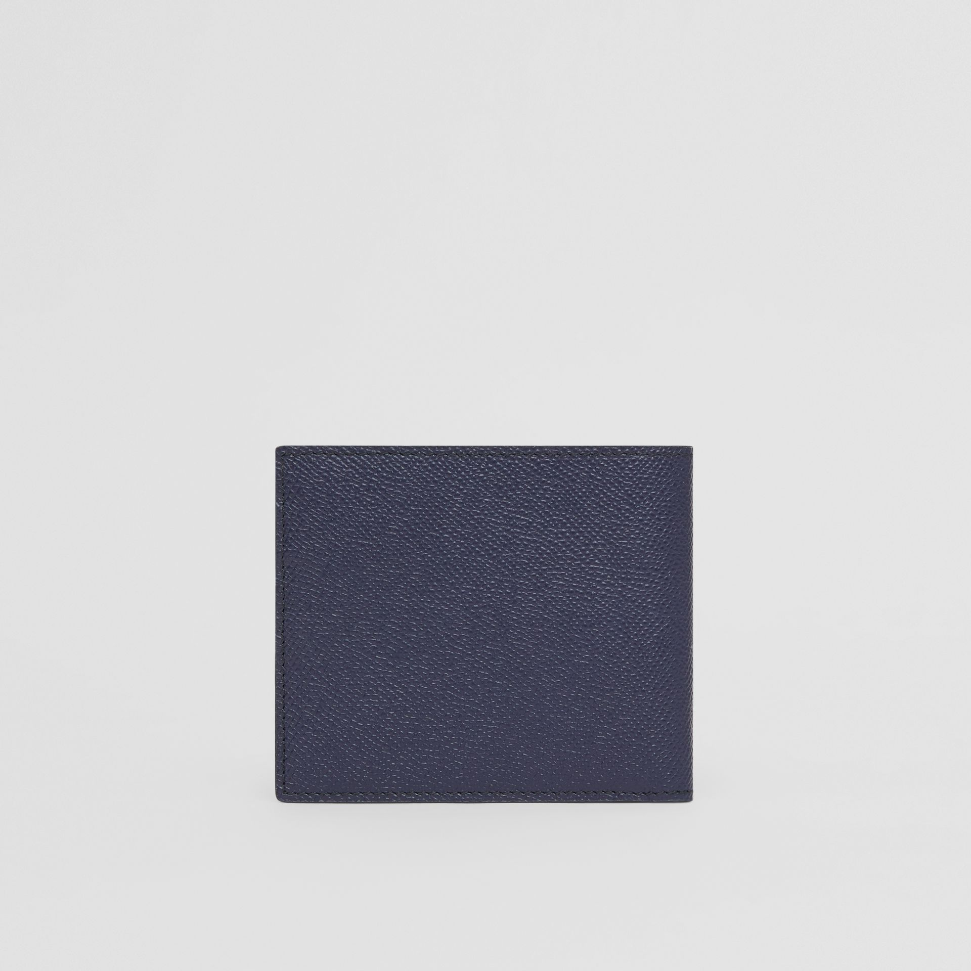 Grainy Leather International Bifold Wallet in Regency Blue - Men | Burberry - gallery image 4