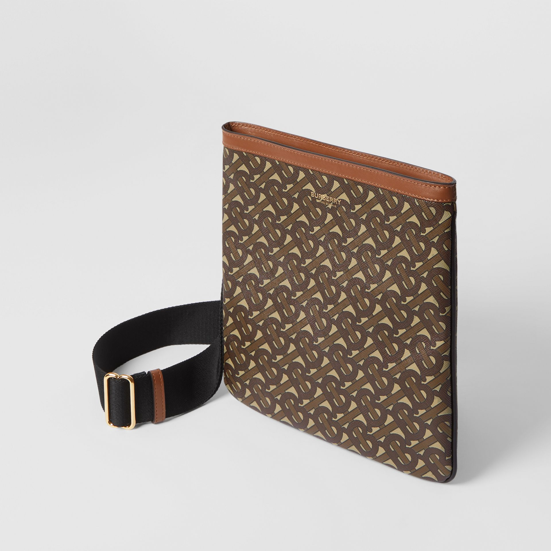 Monogram Print E-canvas Crossbody Bag in Bridle Brown - Men | Burberry - gallery image 3