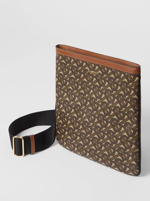 Monogram Print E-canvas Crossbody Bag in Bridle Brown - Men | Burberry - cell image 3
