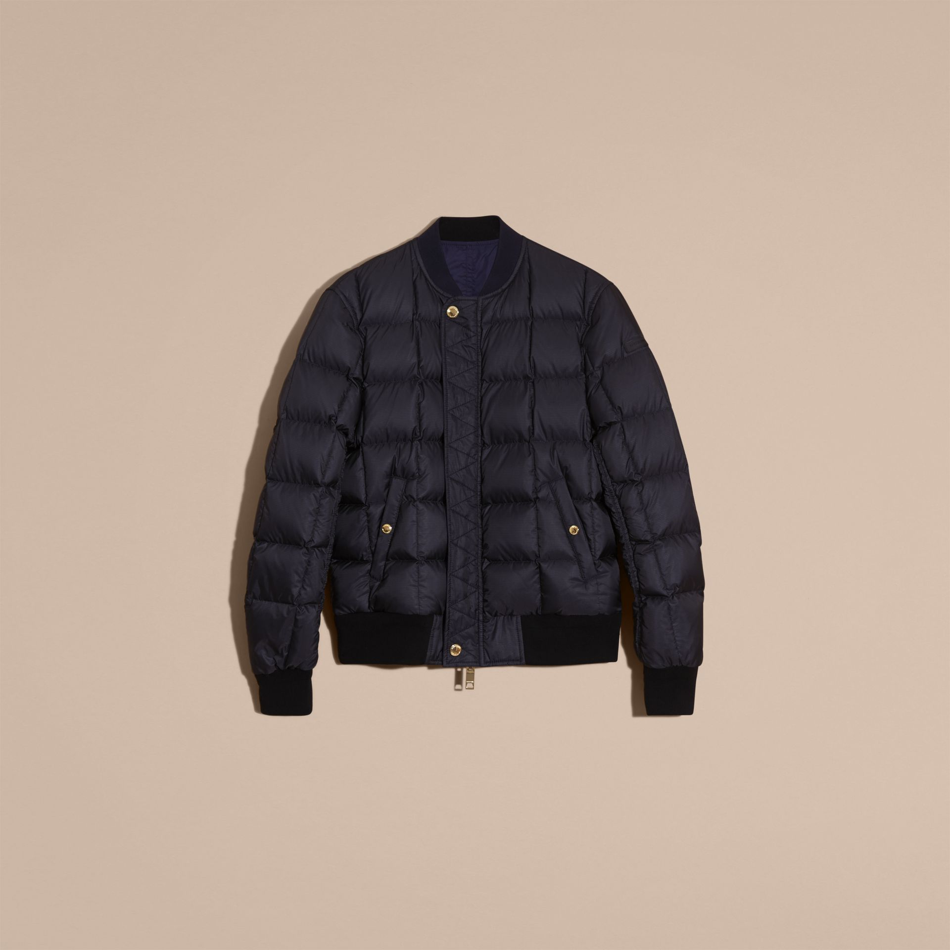 Navy Reversible Down-filled Bomber Jacket - gallery image 3