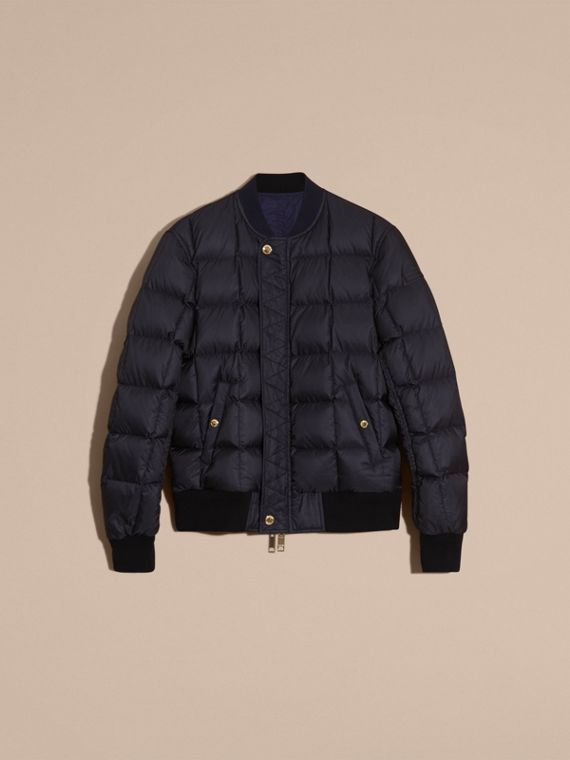 Navy Reversible Down-filled Bomber Jacket - cell image 2