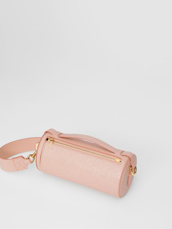 The Monogram Leather Barrel Bag in Rose Beige - Women | Burberry Australia - cell image 2