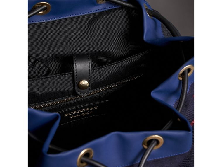 The Large Rucksack in Tartan Cotton in Deep Navy | Burberry - cell image 4