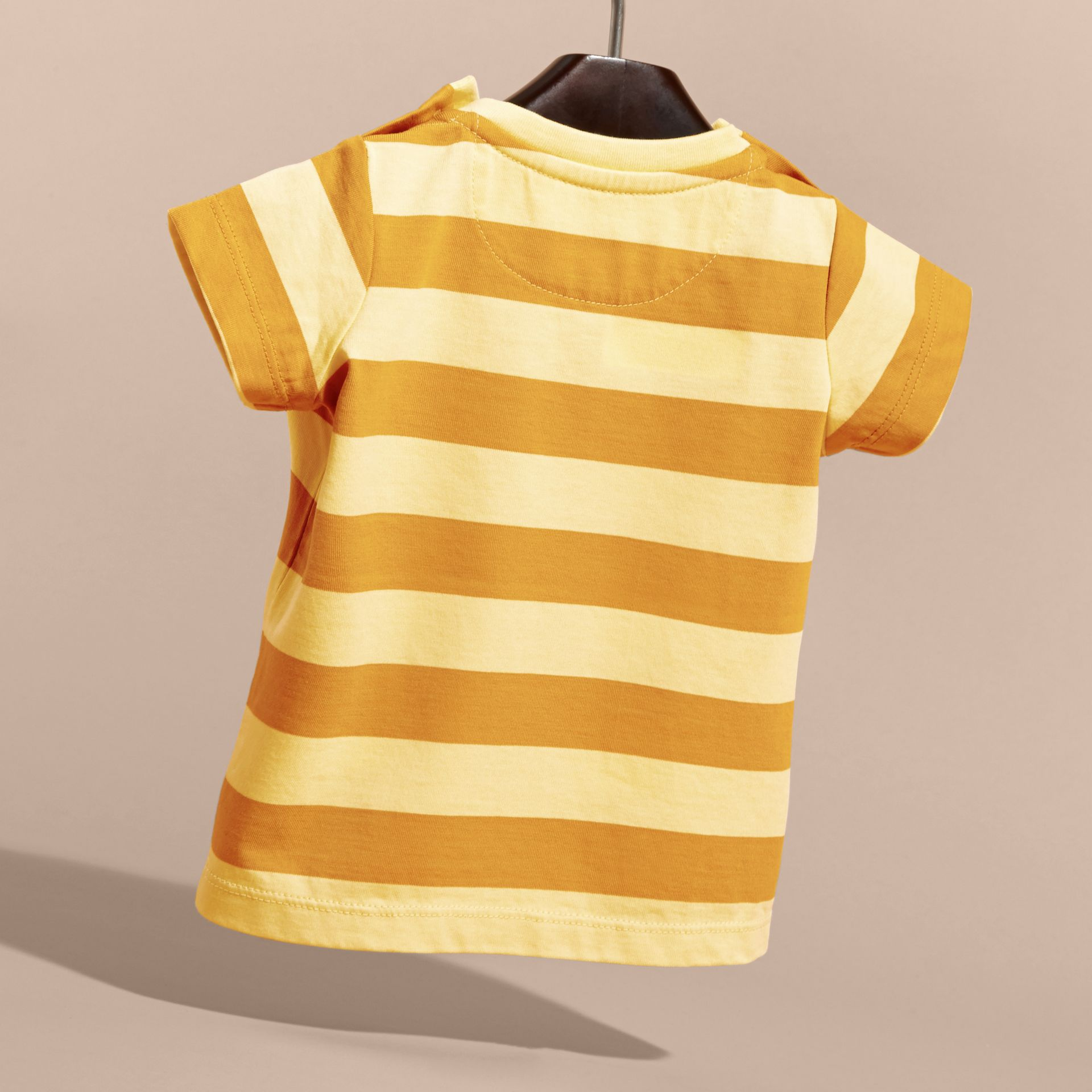 Striped Cotton T-shirt | Burberry - gallery image 4