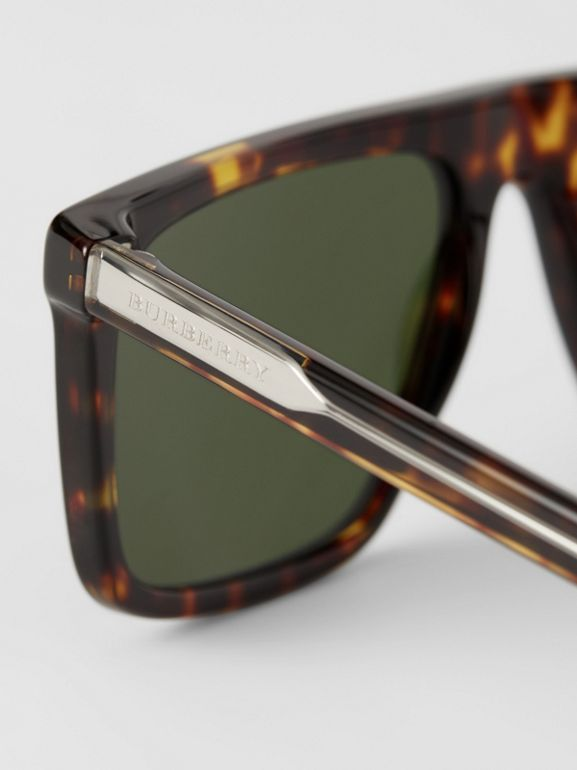 Straight-brow Sunglasses in Tortoise Shell - Men | Burberry United Kingdom - cell image 1