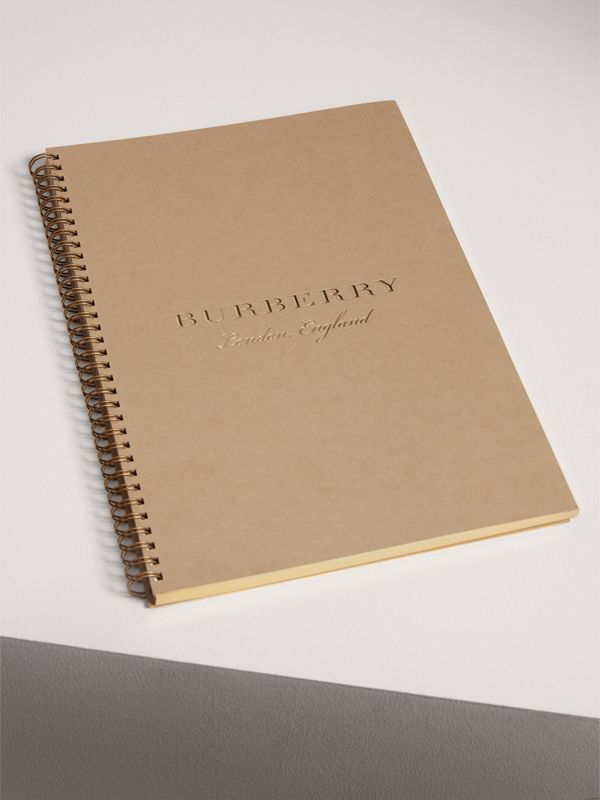 2018 A4 Diary Refill in Honey | Burberry United States - cell image 2