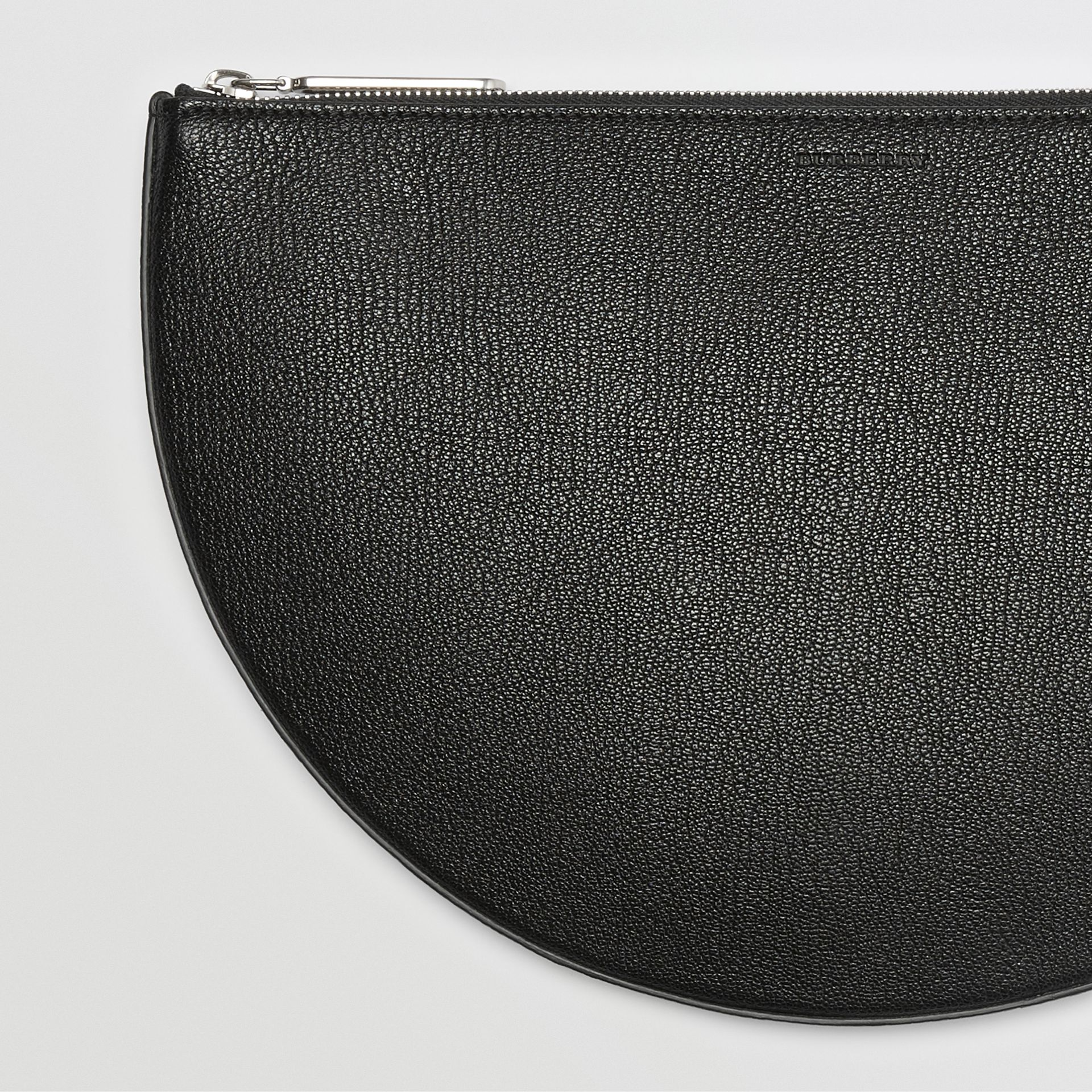 The Leather D Clutch in Black - Women | Burberry Australia - gallery image 1