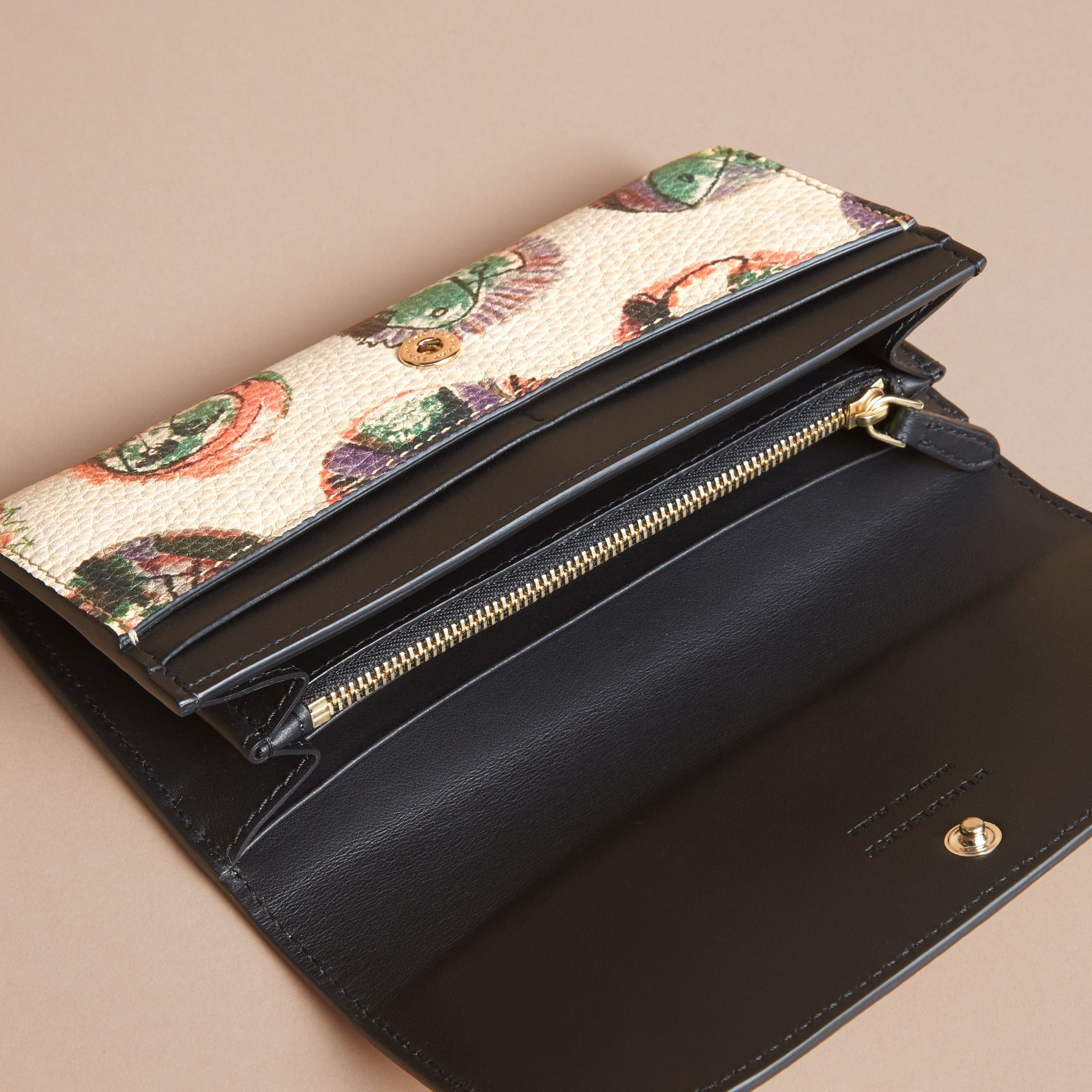 Pallas Heads Motif Leather Continental Wallet - gallery image 4