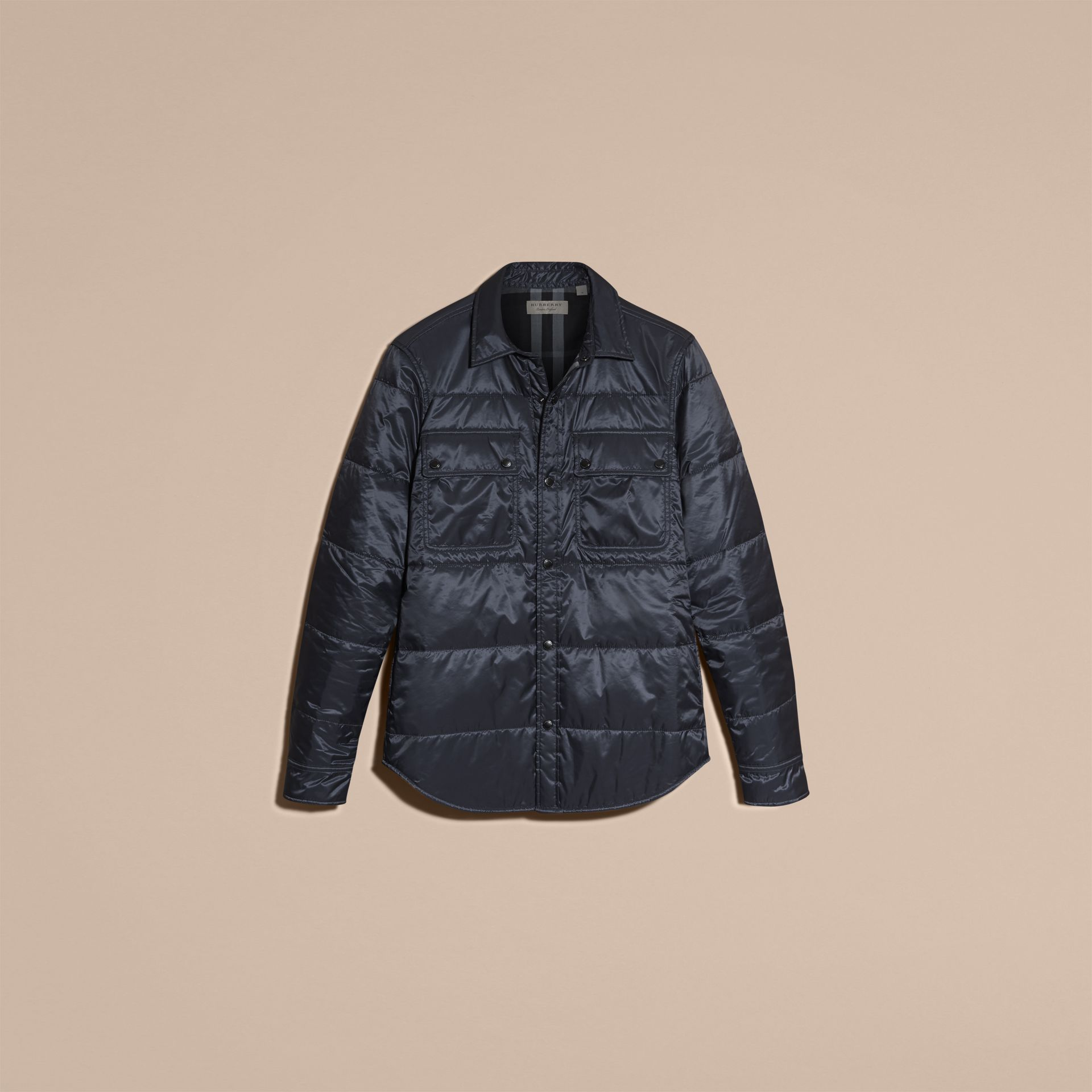 Navy Quilted Technical Shirt - gallery image 4