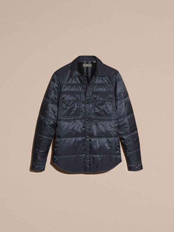 Navy Quilted Technical Shirt - cell image 3