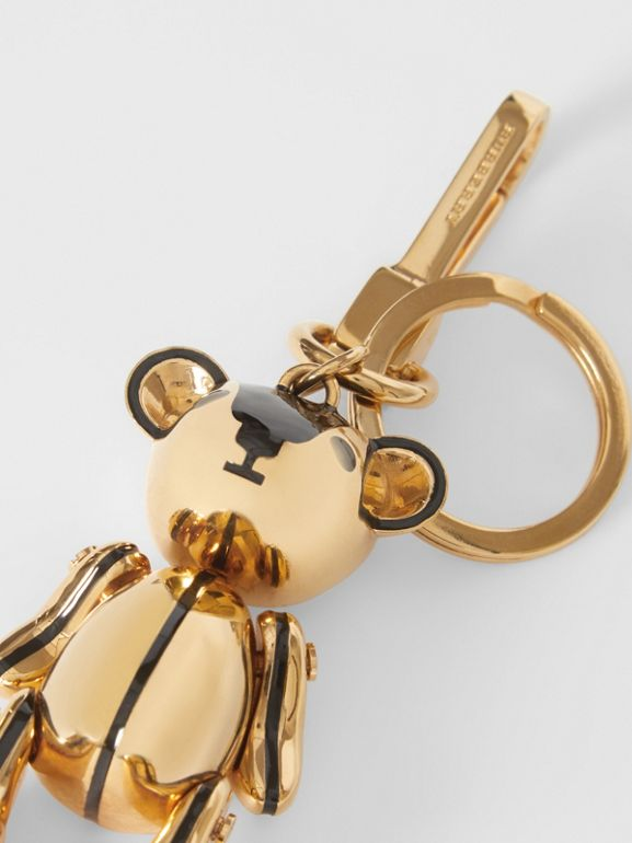 Gold-plated Thomas Bear Charm in Black/light | Burberry United Kingdom - cell image 1
