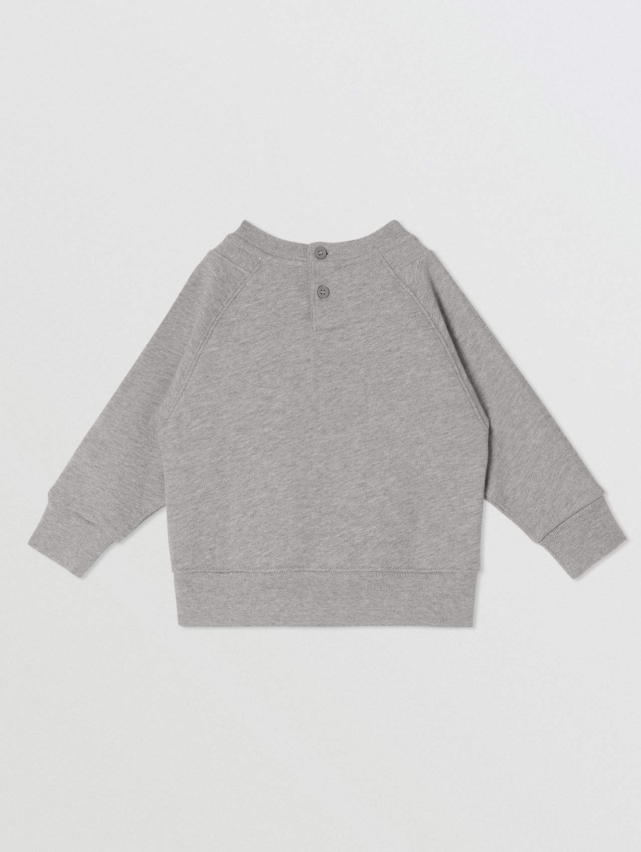 Logo Tape Cotton Sweatshirt in Grey Melange