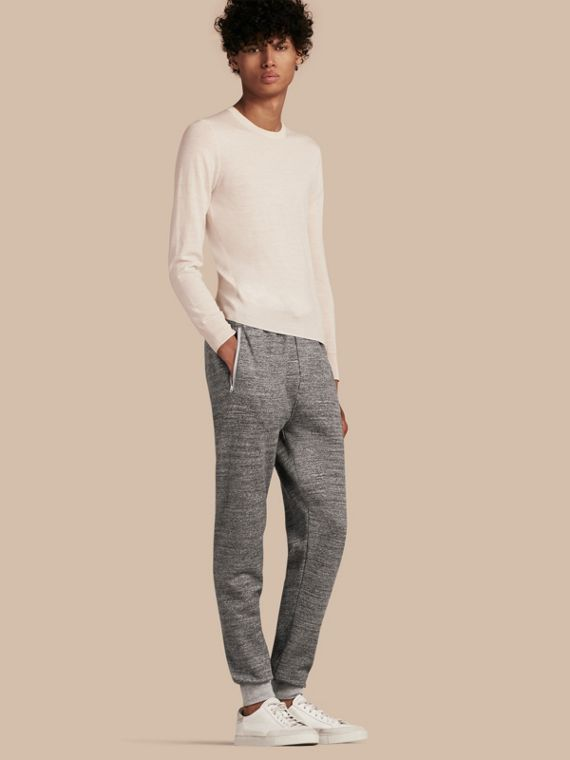 Cotton Sweat pants Mid Grey Melange