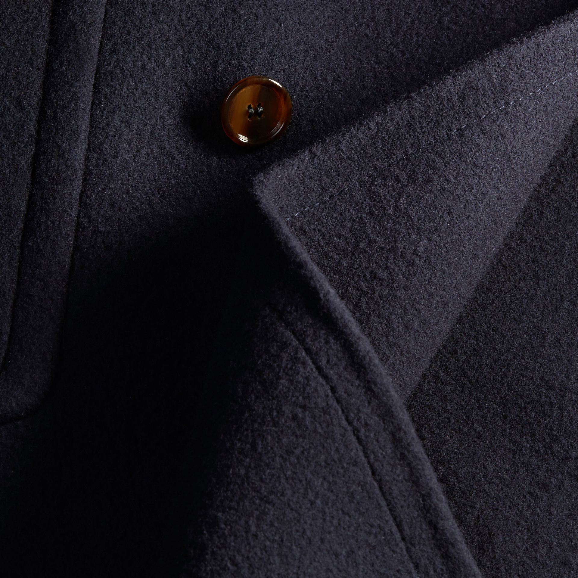 Navy Double-faced Technical Wool Chesterfield - gallery image 2