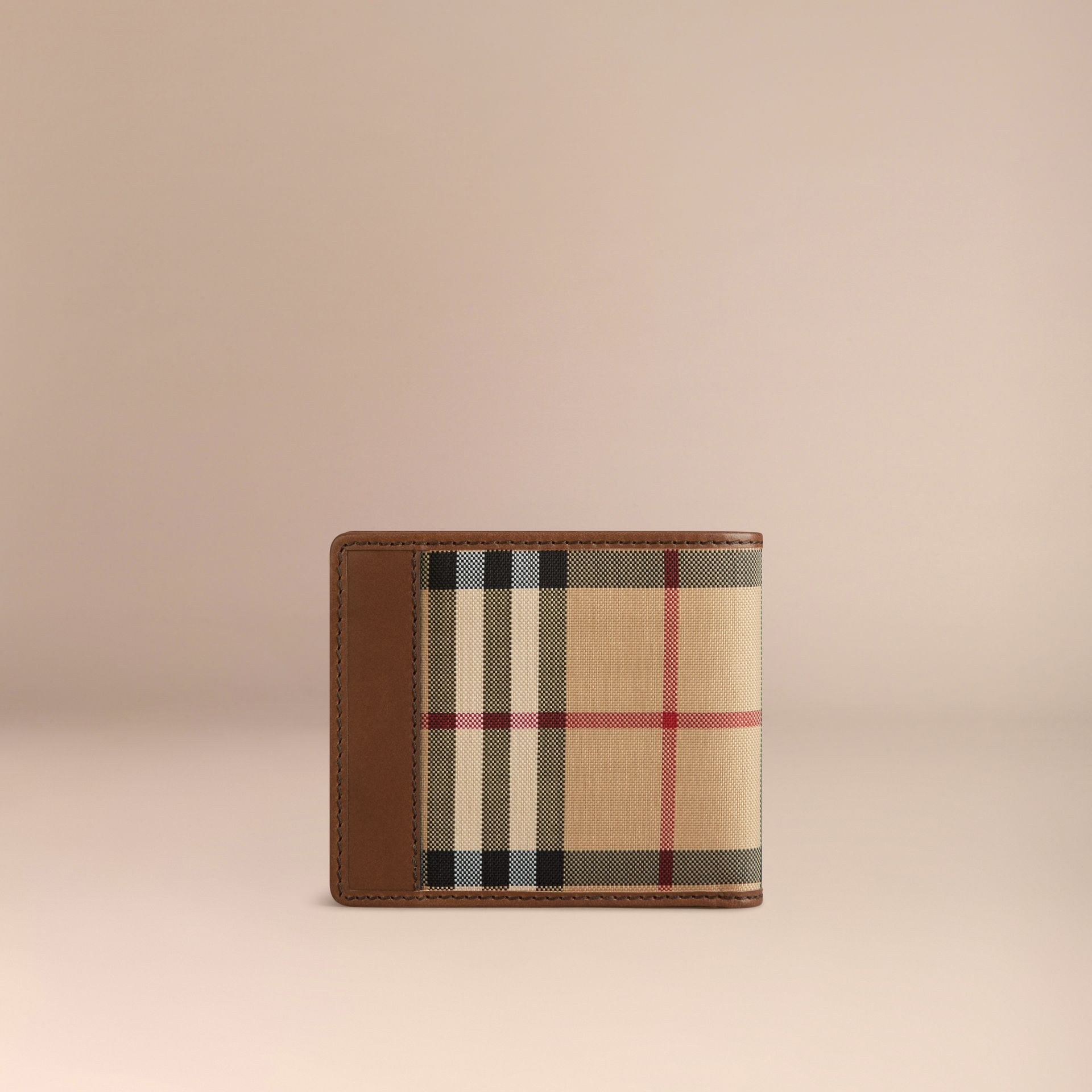 Tan Horseferry Check Folding Wallet Tan - gallery image 3