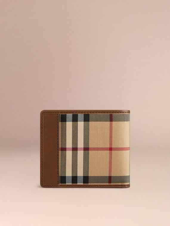 Tan Horseferry Check Folding Wallet Tan - cell image 2