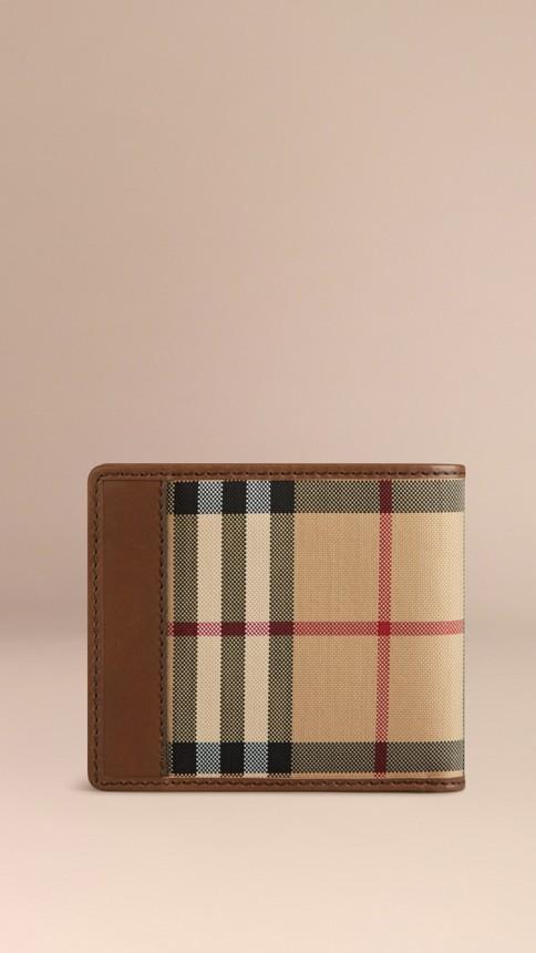 Tan Horseferry Check Folding Wallet Tan - Image 3