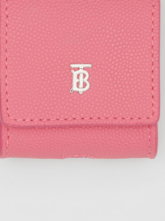 Grainy Leather AirPods Case in Candy Floss - Women   Burberry Canada - cell image 1