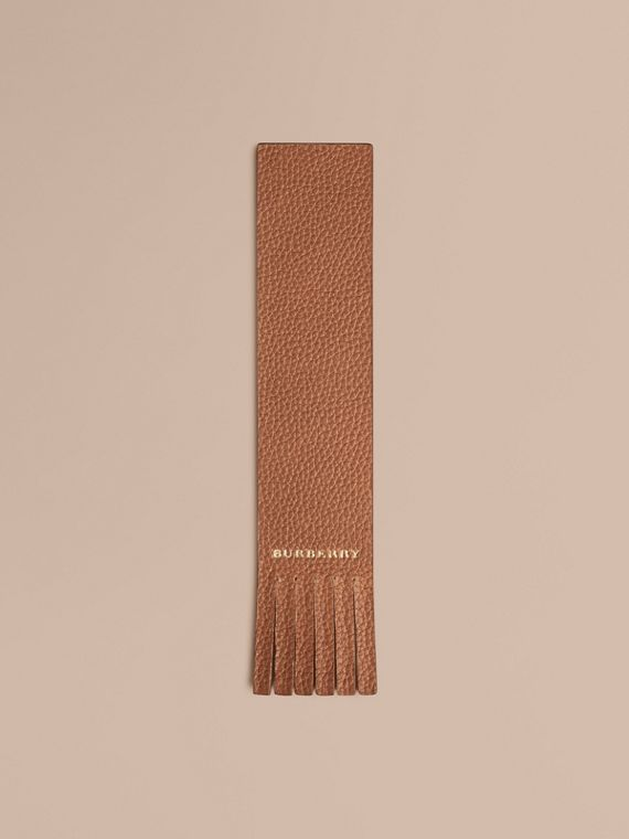 Grainy Leather Bookmark | Burberry Singapore