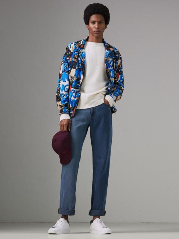 Jean de coupe droite bicolore (Indigo)