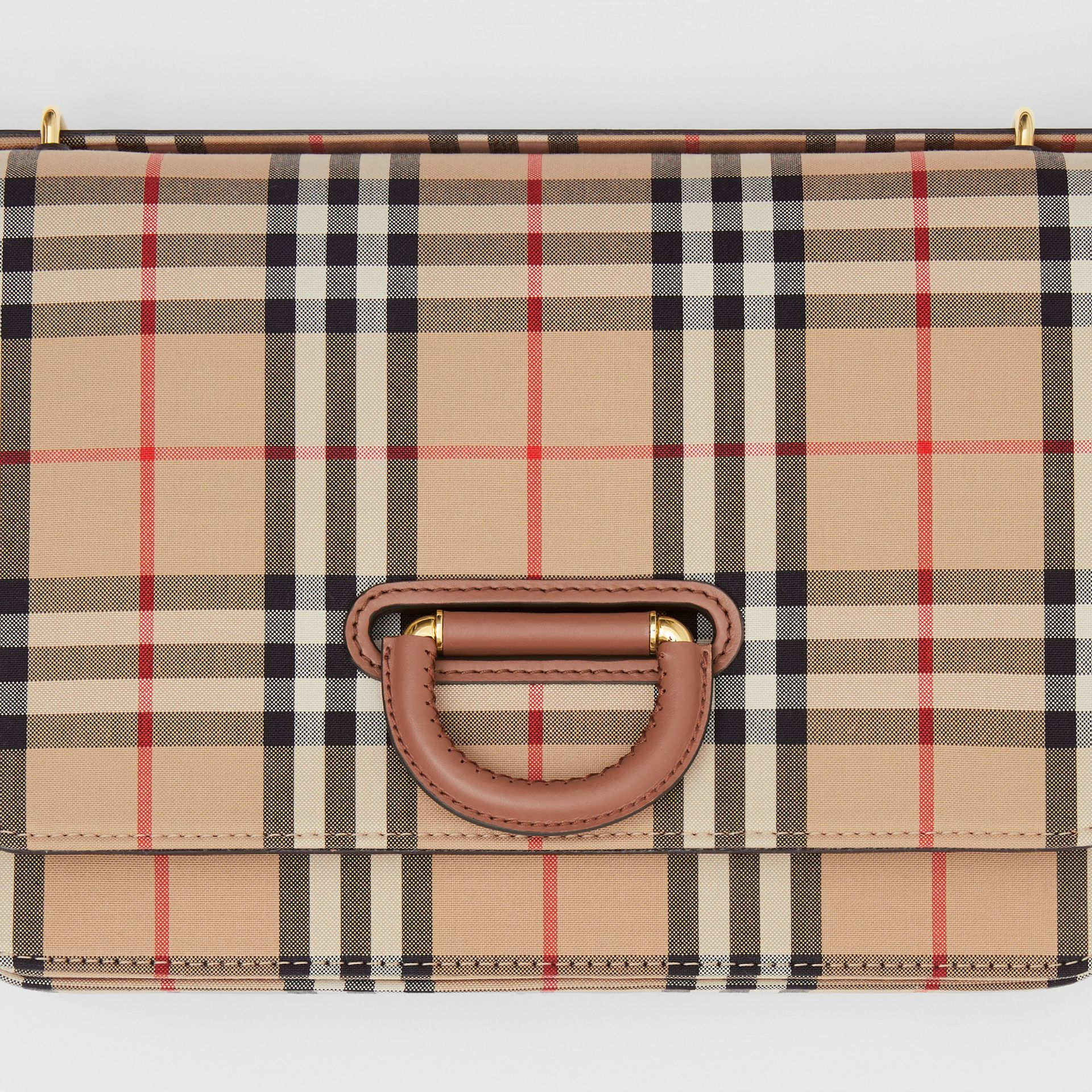 The Medium D-Ring Bag aus Vintage Check-Gewebe (Vintage-beige) - Damen | Burberry - Galerie-Bild 1
