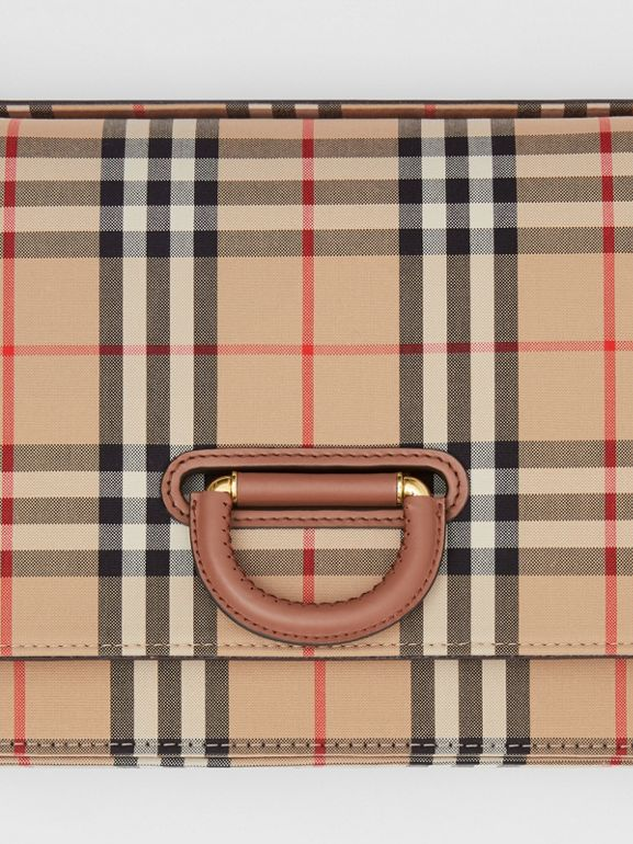 The Medium D-Ring Bag aus Vintage Check-Gewebe (Vintage-beige) - Damen | Burberry - cell image 1