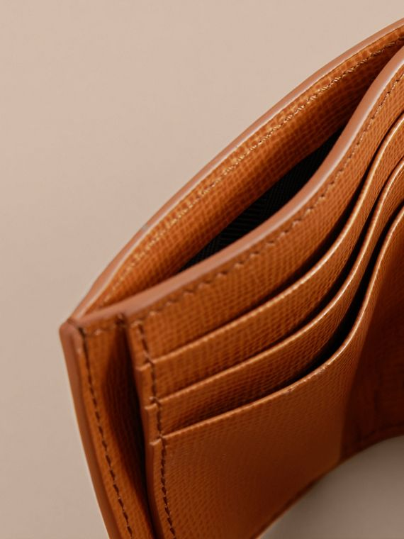 London Leather Money Clip Card Case in Tan - Men | Burberry United Kingdom - cell image 3