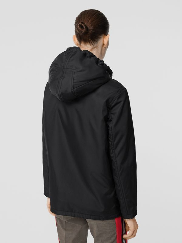 Detachable Hood ECONYL® Jacket in Black - Women | Burberry Singapore - cell image 2