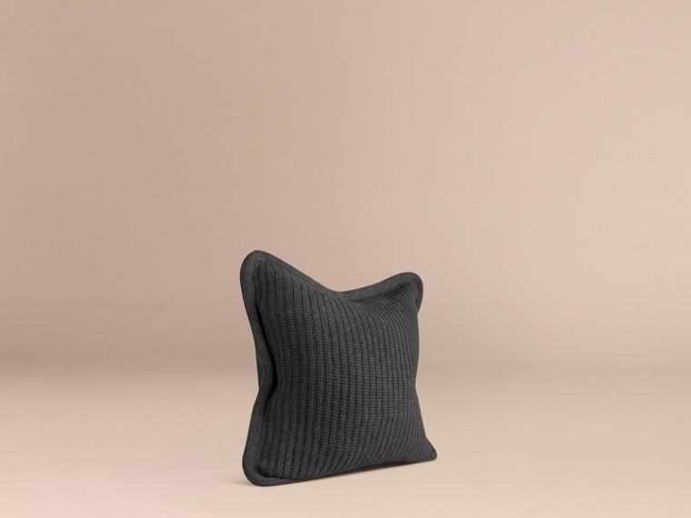 Dark grey melange Knitted Cashmere Cushion Cover Dark Grey Melange - cell image 2