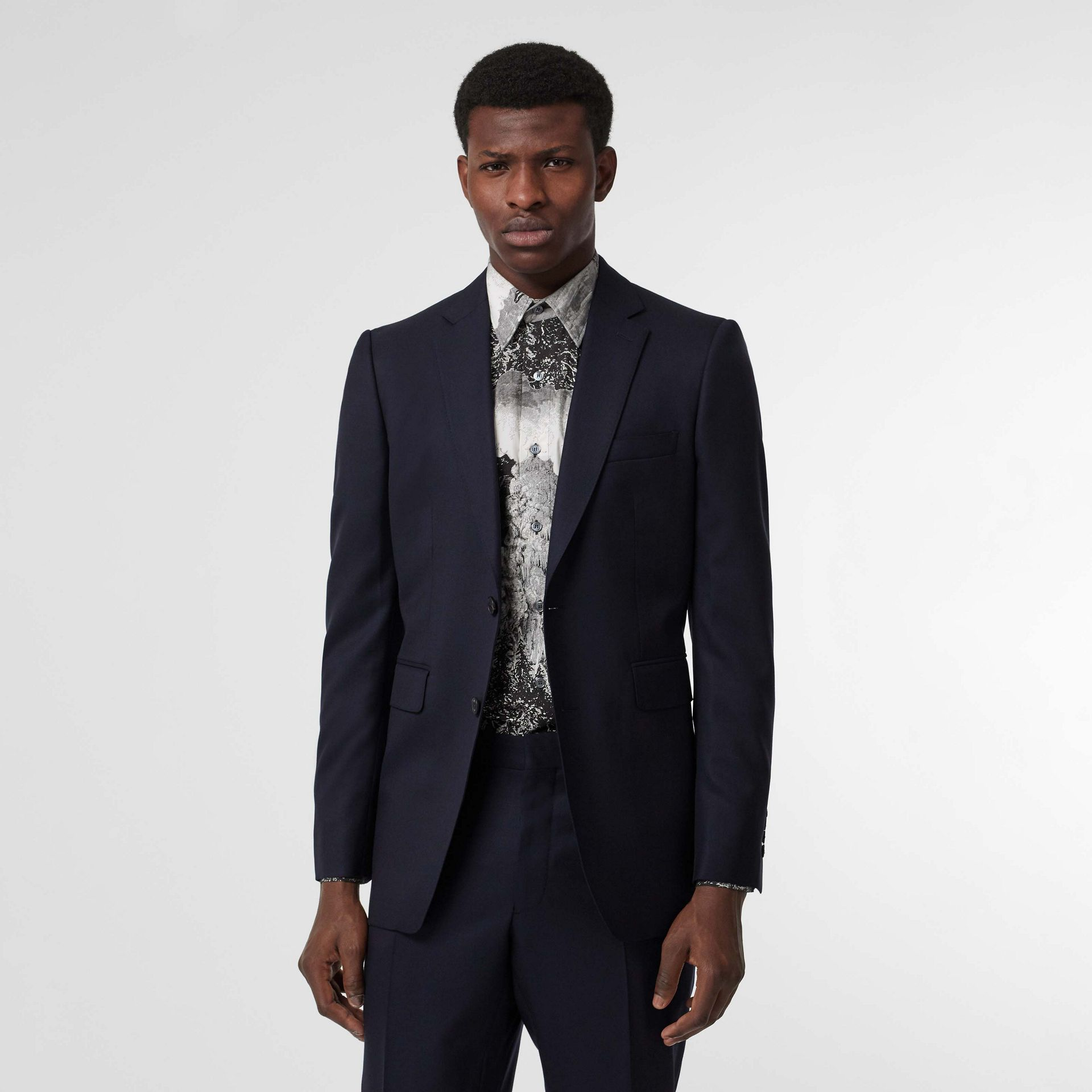 Classic Fit Wool Twill Suit in Navy - Men | Burberry United States - gallery image 7