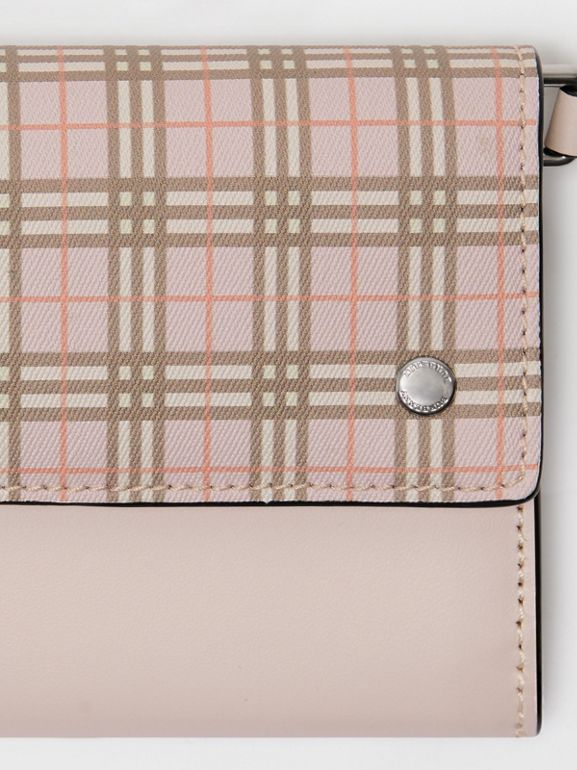 Small Scale Check Wallet with Detachable Strap in Ice Pink - Women | Burberry Canada - cell image 1
