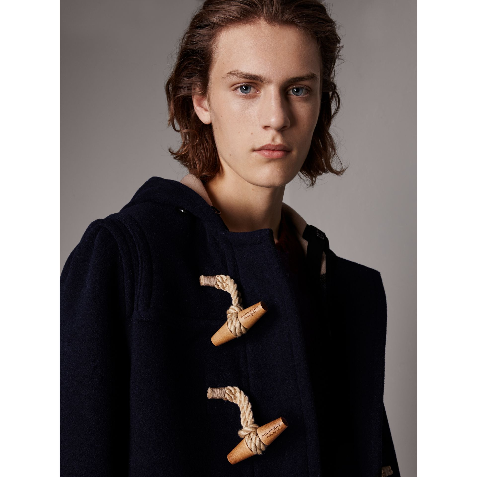 The Greenwich Duffle Coat in Navy - Men | Burberry Australia - gallery image 5